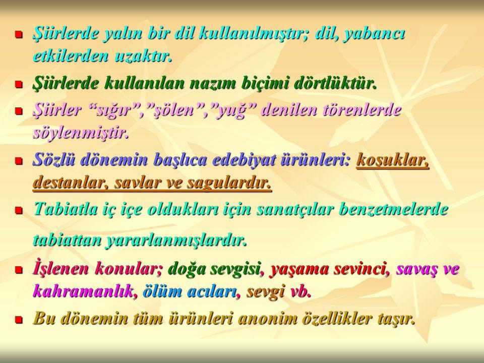 MEVLANA CELALEDDİN-İ RUMİ (1201-1273): Tasavvuf edebiyatının en önemli sanatçısıdır.