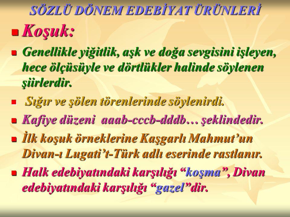 DİVAN-I LUGATİ'T-TÜRK 11.yy'da (1072-1074) Kaşgarlı Mahmut tarafından yazılmıştır.