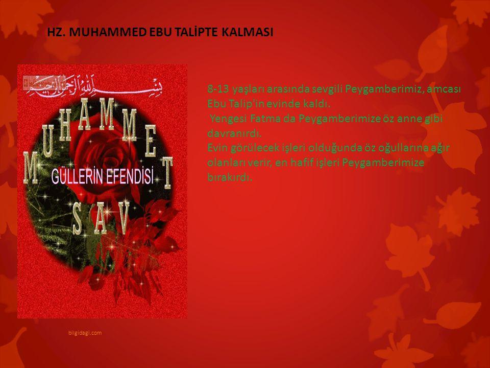 8-13 yaşları arasında sevgili Peygamberimiz, amcası Ebu Talip'in evinde kaldı. Yengesi Fatma da Peygamberimize öz anne gibi davranırdı. Evin görülecek