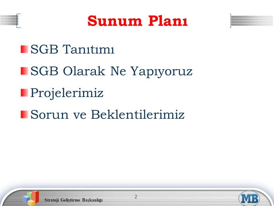 Strateji Geliştirme Başkanlığı 13 Yönetim Bilgi Sistemi Veri Politika Uygulama SGB.net Sayısal Ortam Karar Alma İş Kuralları Eylem Veri Bilgi