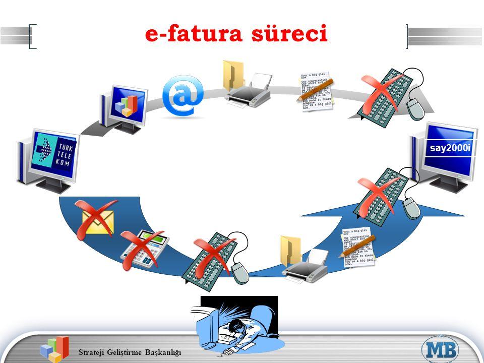 Strateji Geliştirme Başkanlığı e-fatura süreci say2000i