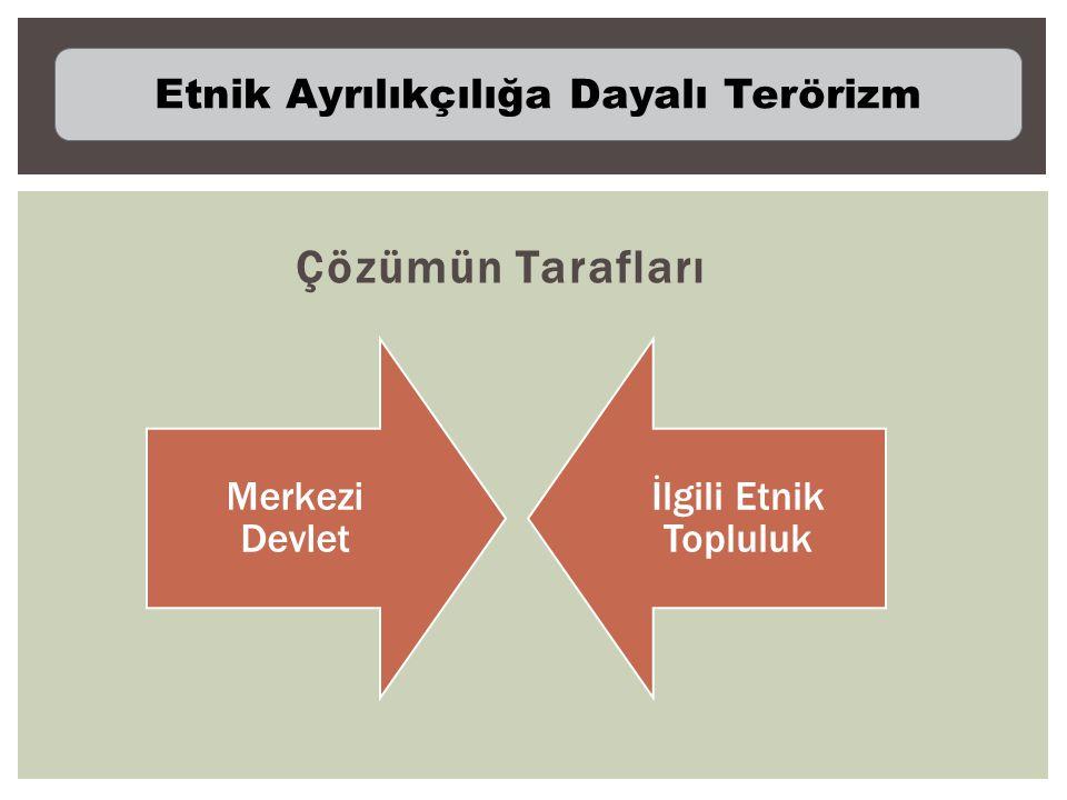 Çözümün Tarafları Merkezi Devlet İlgili Etnik Topluluk Etnik Ayrılıkçılığa Dayalı Terörizm