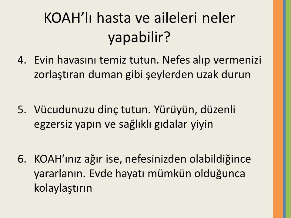 KOAH'lı hasta ve aileleri neler yapabilir.4.Evin havasını temiz tutun.