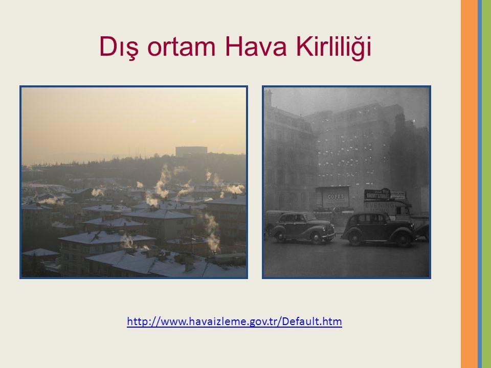 Dış ortam Hava Kirliliği http://www.havaizleme.gov.tr/Default.htm