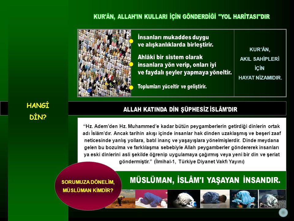 İslâm, Müslüman'ın tüm hayatını şekillendiren kurallar koymuştur.