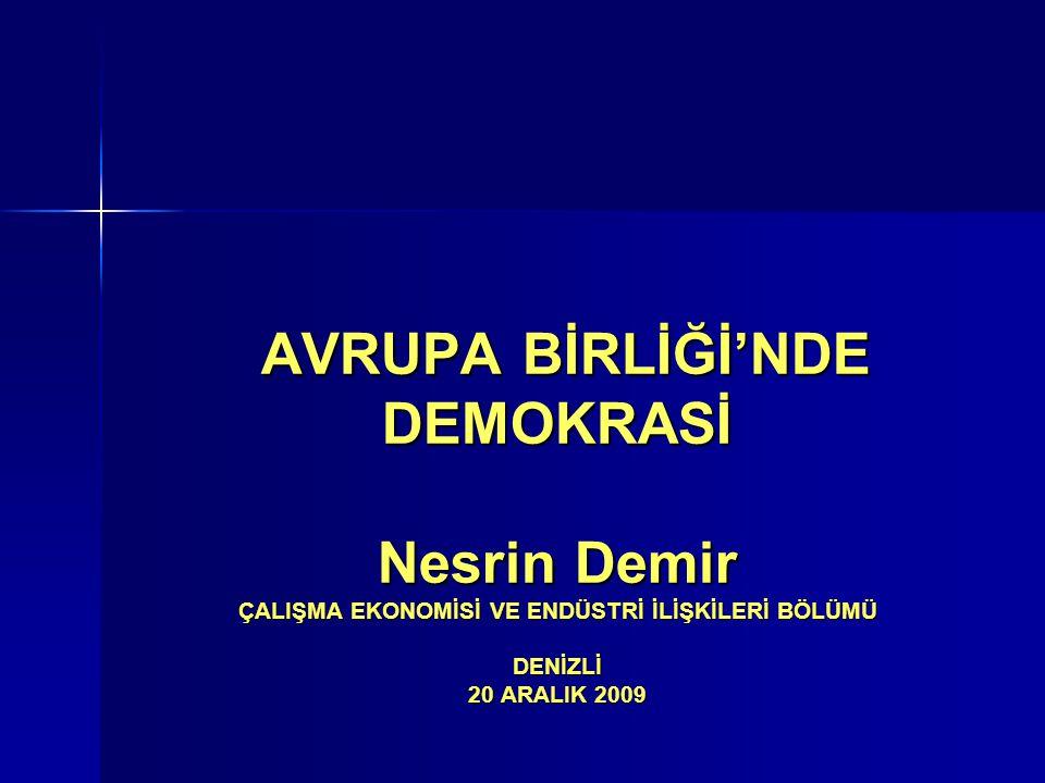 Demokrasi Kavramının Temel İlkeleri –.