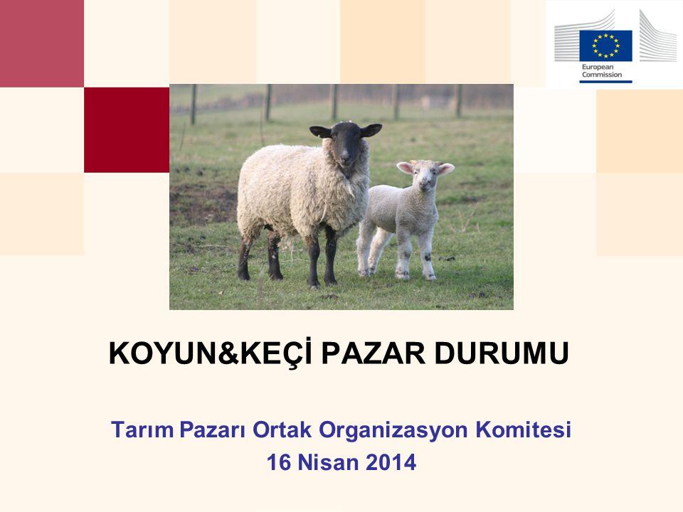 Tarım Pazarı Ortak Organizasyon Komitesi 16 Nisan 2014 KOYUN&KEÇİ PAZAR DURUMU