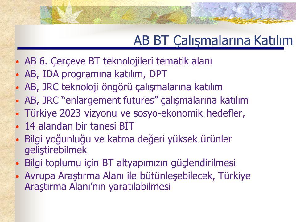 AB BT Çalışmalarına Katılım AB 6.