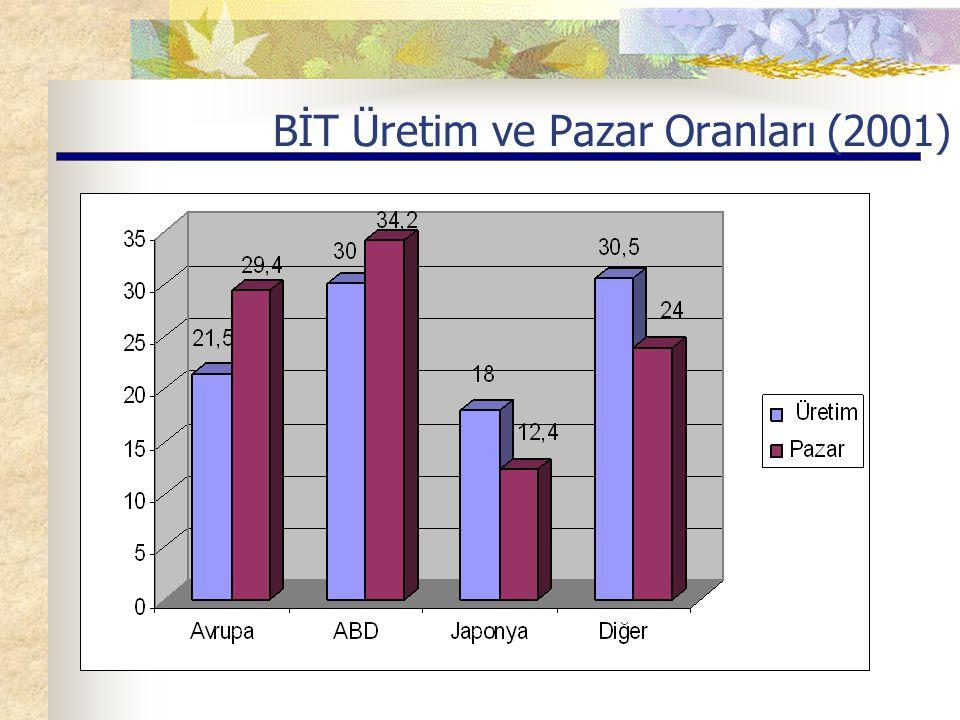 BİT Üretim ve Pazar Oranları (2001)