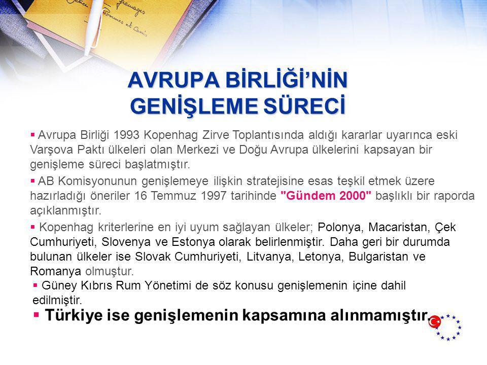NEDENLERİ  Türkiye'deki siyası durum karışıklığının mali yapıyı iyileştirmeyi önlemesi  Makro ekonomik istikrarsızlıklar  İnsan Hakları  Güneydoğu Sorunu Gündem 2000 kararından sonra Türkiye, AB ile yakın ilişkilerde bulunmuştur ve Lüksemburg Zirve Toplantısı'ndan beklediklerini ortaya koymuştur:  Türkiye nin AB nin genişleme sürecine dahil olduğunun resmen ilanı  Türkiye nin uygun bir katılma öncesi stratejisi ile desteklenmesi  Türkiye nin Avrupa Daimi Konferansına diğer adaylarla eşit statüde katılması