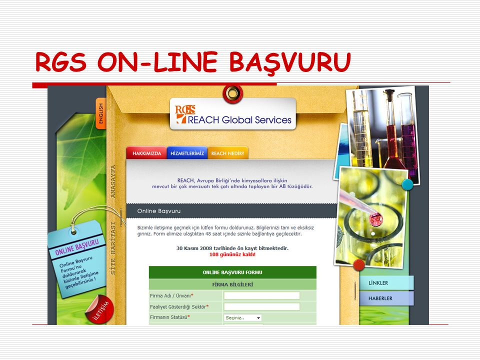 RGS ON-LINE BAŞVURU