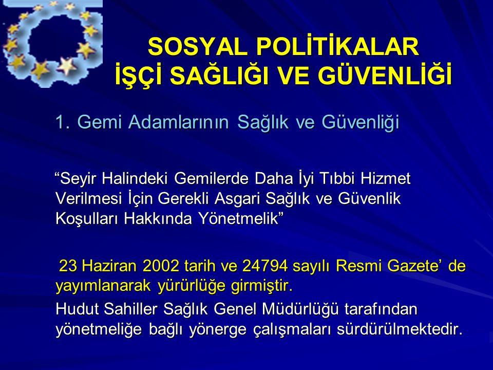 SOSYAL POLİTİKALAR İŞÇİ SAĞLIĞI VE GÜVENLİĞİ SOSYAL POLİTİKALAR İŞÇİ SAĞLIĞI VE GÜVENLİĞİ 1.