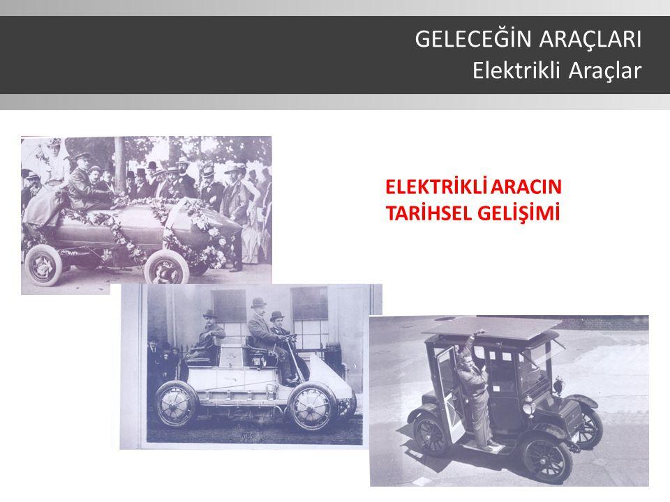 ELEKTRİKLİ ARACIN TARİHSEL GELİŞİMİ GELECEĞİN ARAÇLARI Elektrikli Araçlar