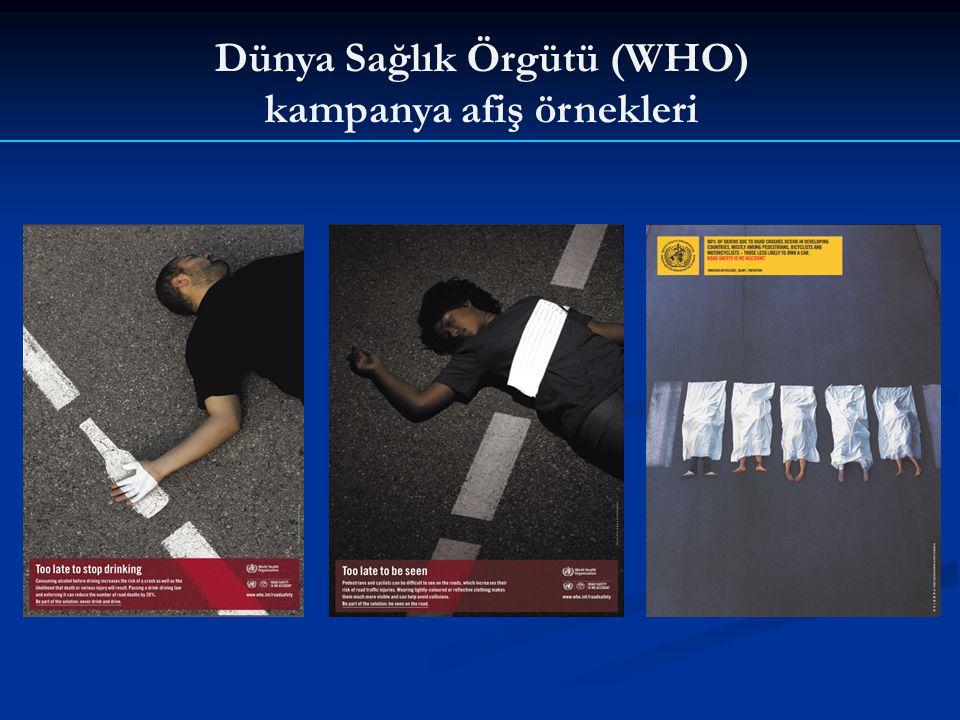 Dünya Sağlık Örgütü (WHO) kampanya afiş örnekleri