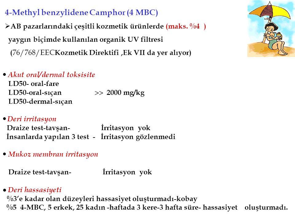 4-MBC Kozmetik Yönetmeliğimizde…