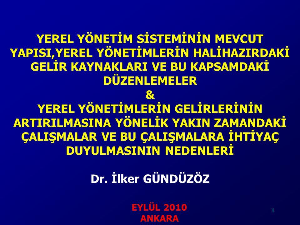12  Mahalli idare harcamalarının GSYİH'ya oranı Türkiye'de % 4,8; AB ortalaması % 12,2'dir.