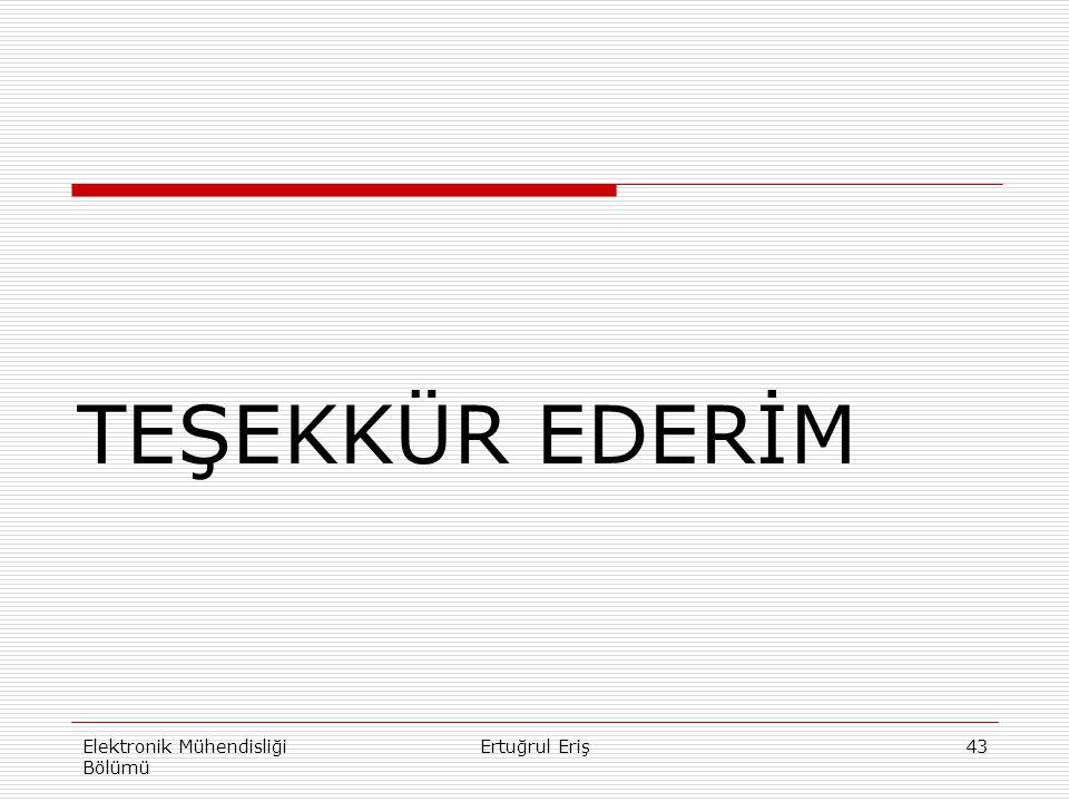 43 TEŞEKKÜR EDERİM Elektronik Mühendisliği Bölümü Ertuğrul Eriş