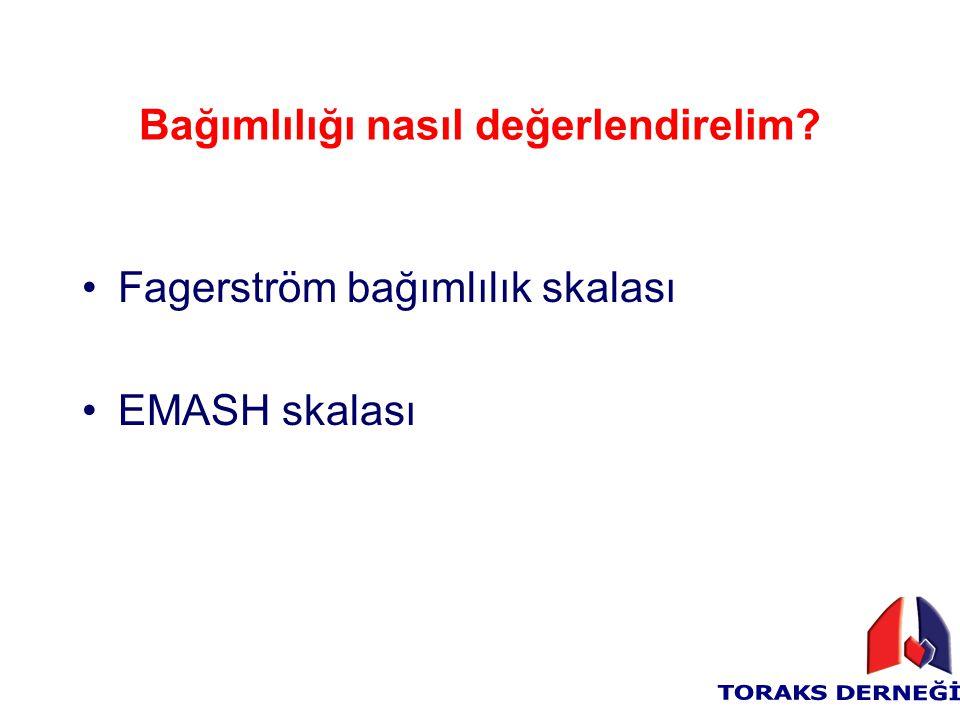 Bağımlılığı nasıl değerlendirelim? Fagerström bağımlılık skalası EMASH skalası