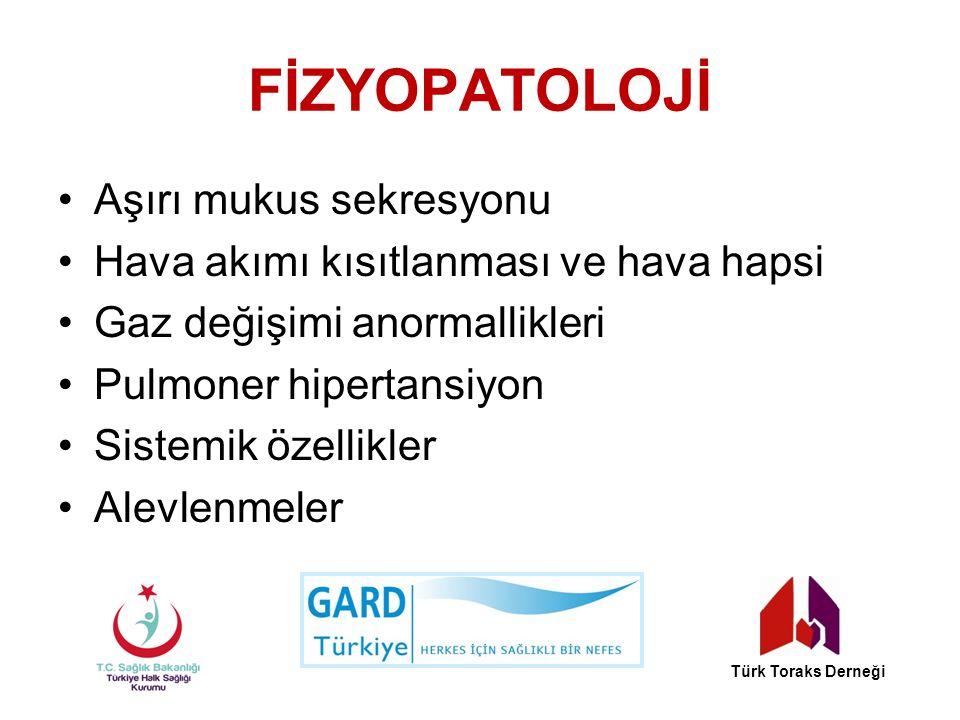 Spirometrik Değerlendirme Bronkodilatato ̈ r sonrası FEV 1 'e göre hava akımı kısıtlanmasının derecelendirilmesi Türk Toraks Derneği