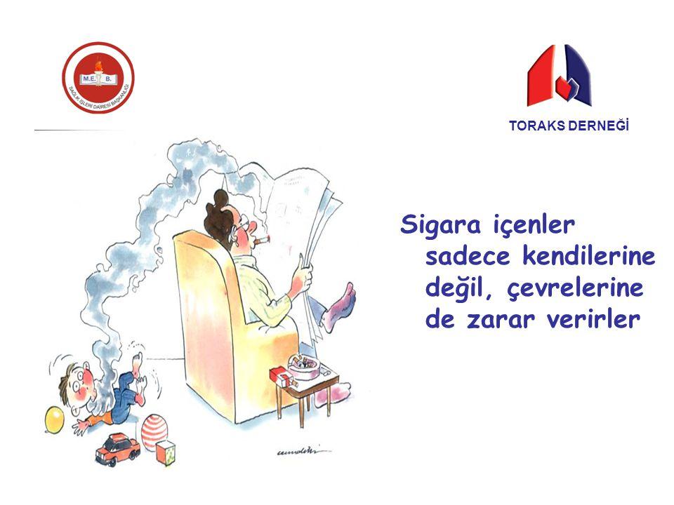 Sigara içenler sadece kendilerine değil, çevrelerine de zarar verirler TORAKS DERNEĞİ
