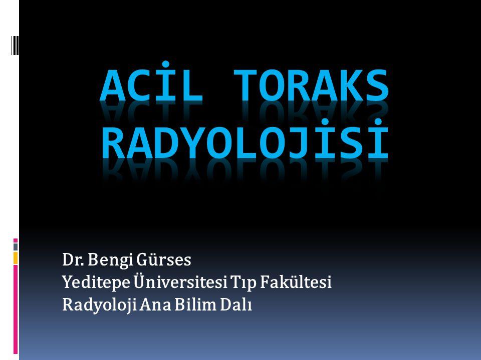 Dr. Bengi Gürses Yeditepe Üniversitesi Tıp Fakültesi Radyoloji Ana Bilim Dalı