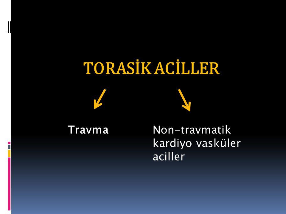 TORASİK ACİLLER TravmaNon-travmatik kardiyo vasküler aciller