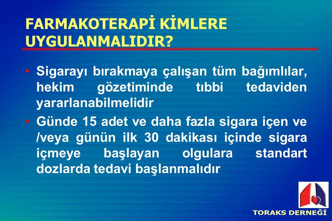 FARMAKOTERAPİ KİMLERE UYGULANMALIDIR.