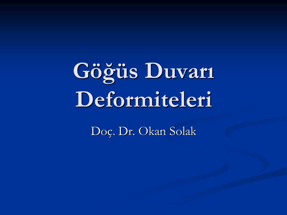 Göğüs Duvarı Deformiteleri Doç. Dr. Okan Solak