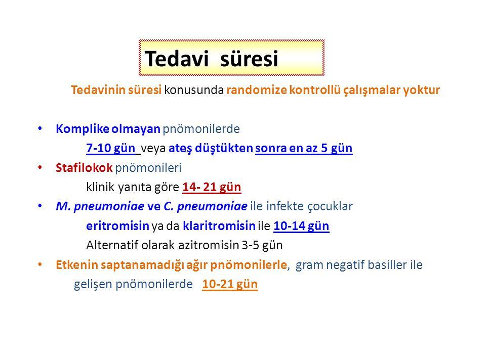 Gentamisin3-7.5 mg/kg/gün, 3 dozda, iv, im Amikasin15-22.5 mg/kg/gün, 3 dozda, iv,im Amoksisilin25-50 mg/kg/gün, 3 dozda, p.o.