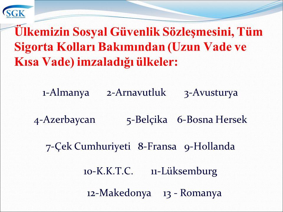 1-Almanya 2-Arnavutluk 3-Avusturya 4-Azerbaycan 5-Belçika 6-Bosna Hersek 7-Çek Cumhuriyeti 8-Fransa 9-Hollanda 10-K.K.T.C.