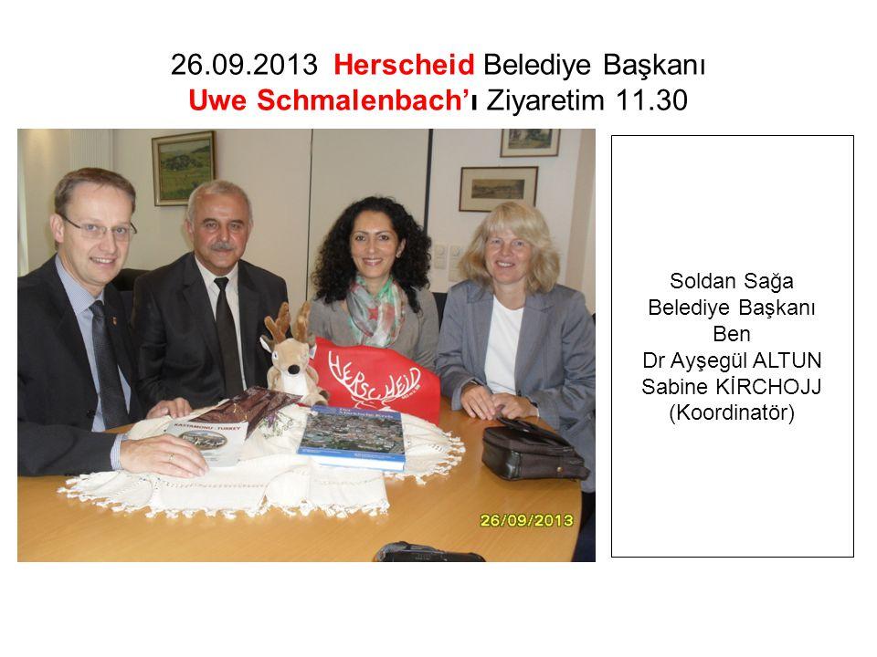 26.09.2013 Herscheid Belediye Başkanı Uwe Schmalenbach'ı Ziyaretim 11.30 Soldan Sağa Belediye Başkanı Ben Dr Ayşegül ALTUN Sabine KİRCHOJJ (Koordinatör)