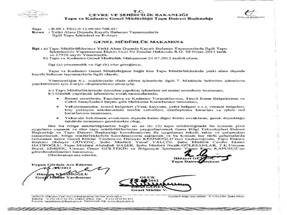 Şube Müdürü Temmuz 2013 – ANKARA Ali ŞAHİN TAPU DAİRESİ BAŞKANLIĞI 21 KASIM / KONYA YUSUF YALÇIN