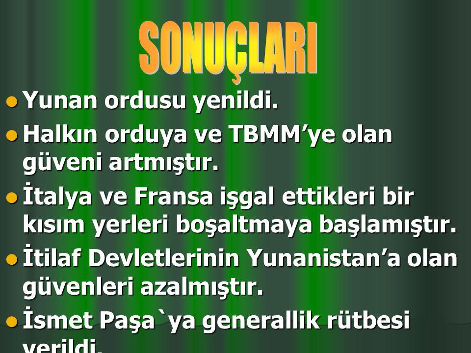 """""""Siz orada sadece düşmanı değil, milletin makus talihini de yendiniz"""" Mustafa Kemal TBMM Başkanı"""
