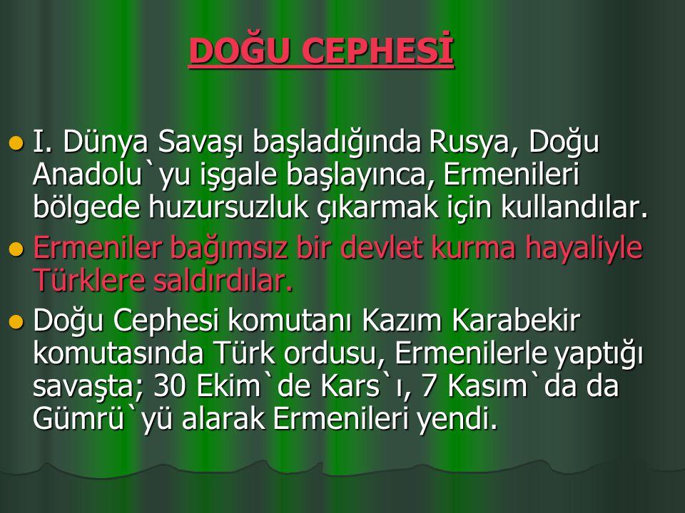 Fevzi Paşa komutasındaki Türk ordusu zafer kazandı.