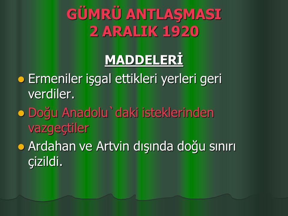 SONUÇLARI Türk ordusu büyük bir zafer kazandı.Türk ordusu büyük bir zafer kazandı.