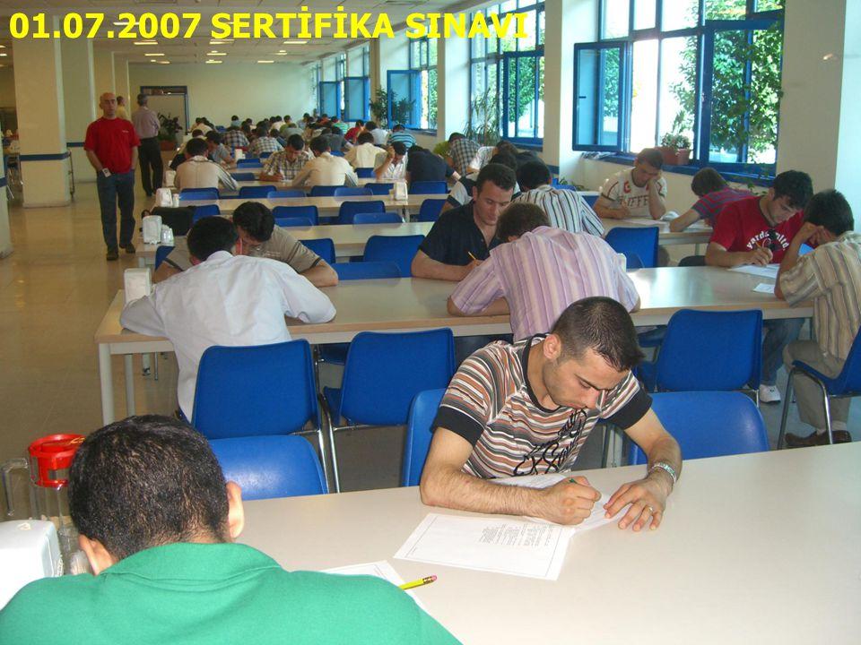 01.07.2007 SERTİFİKA SINAVI