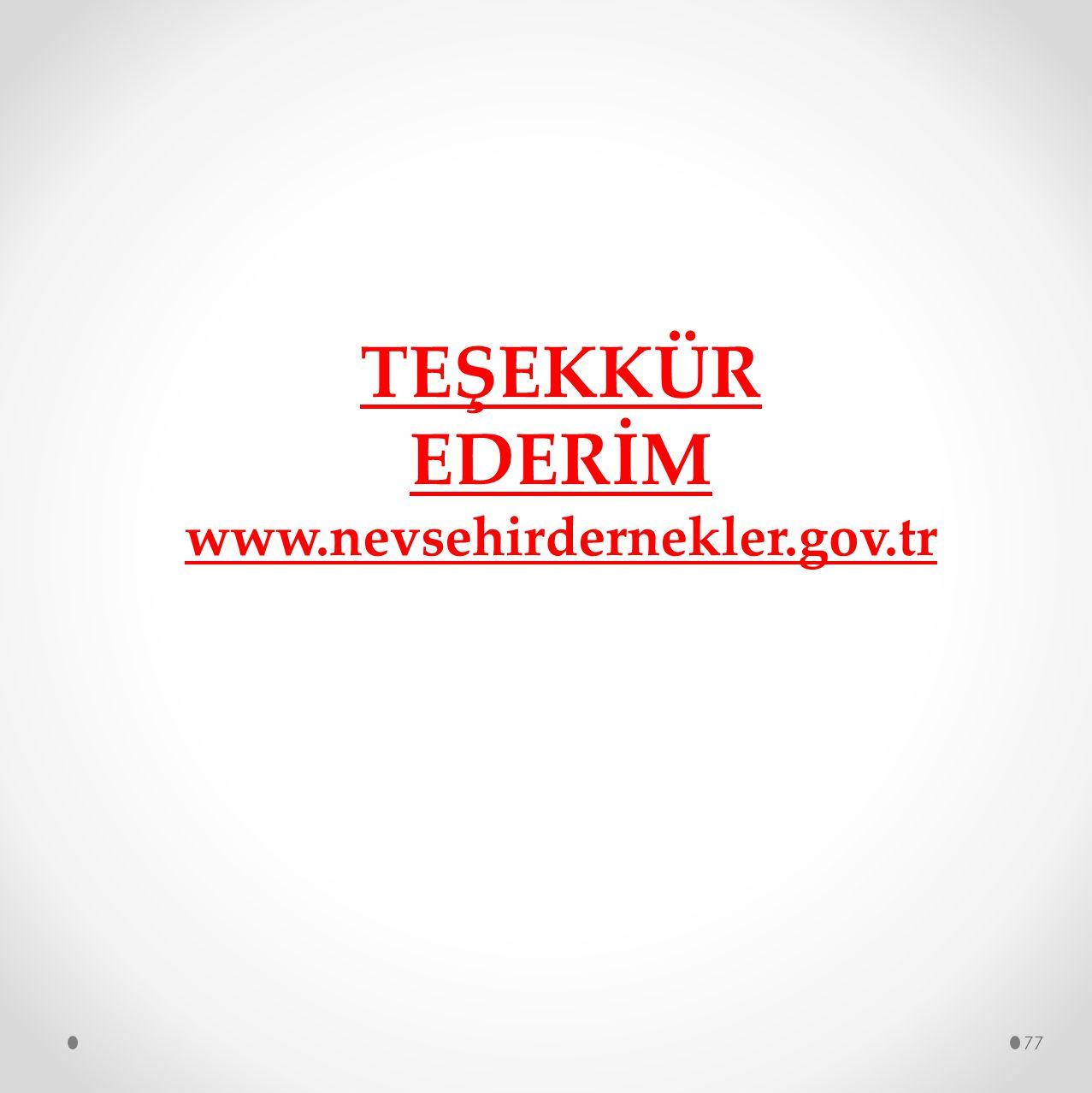 77 TEŞEKKÜR EDERİM www.nevsehirdernekler.gov.tr