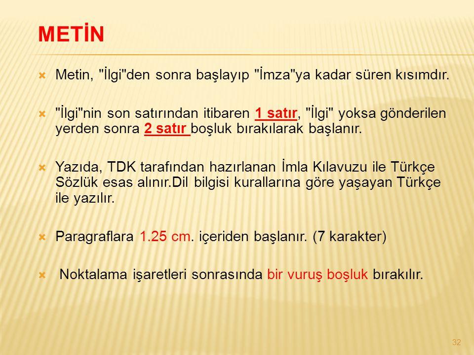32 METİN  Metin,
