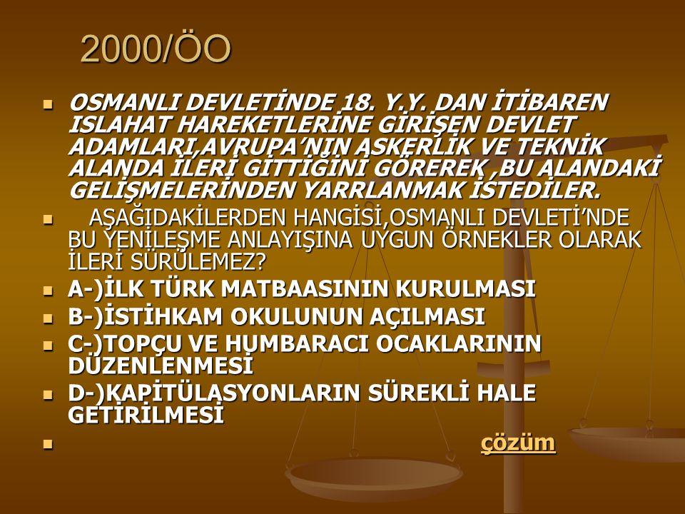2000/ÖO OSMANLI DEVLETİNDE 18.Y.Y.