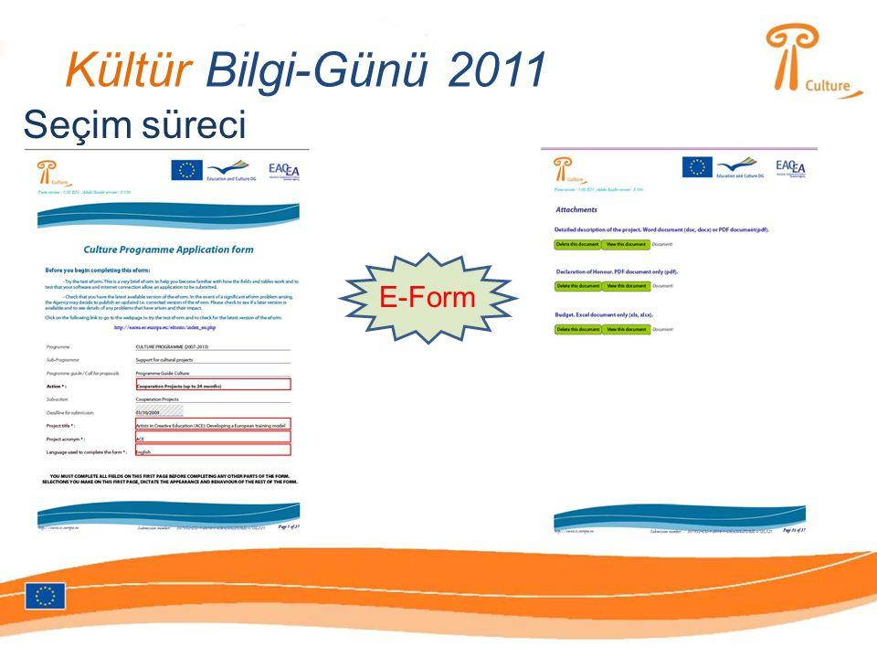 Kültür Bilgi-Günü 2011 Seçim süreci E-Form