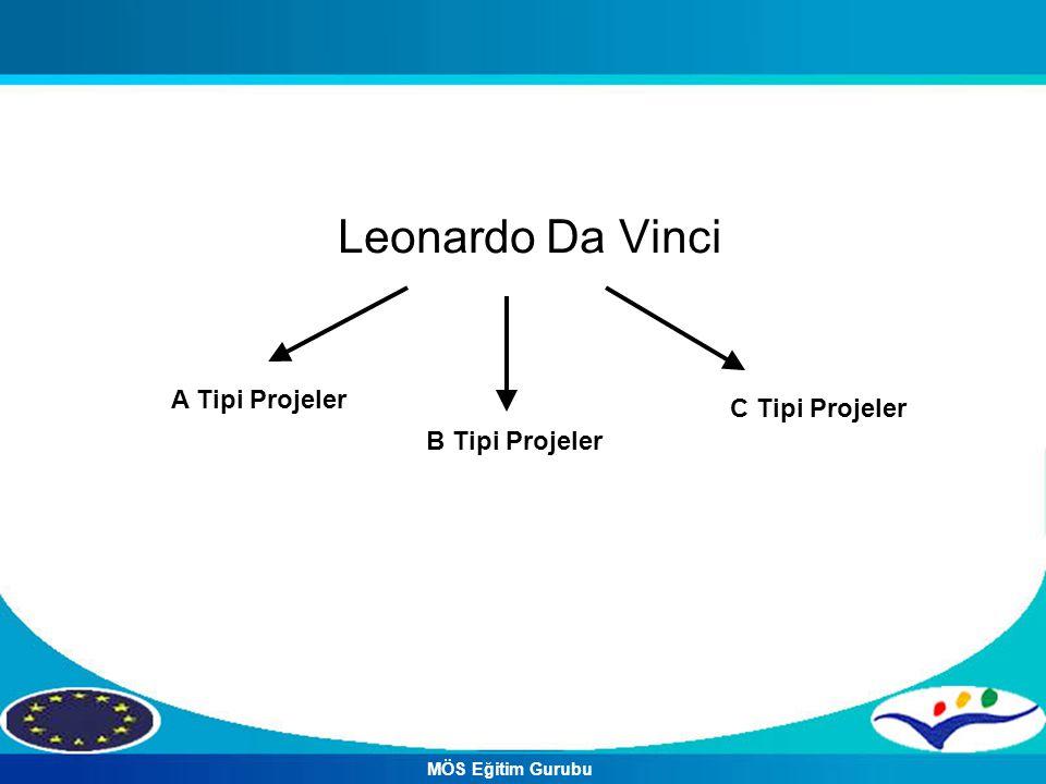Leonardo Da Vinci A Tipi Projeler B Tipi Projeler C Tipi Projeler MÖS Eğitim Gurubu