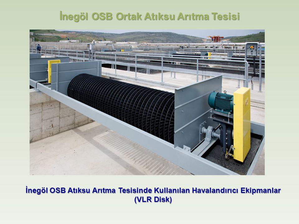 İnegöl OSB Atıksu Arıtma Tesisinde Kullanılan Havalandırıcı Ekipmanlar (VLR Disk) İnegöl OSB Ortak Atıksu Arıtma Tesisi