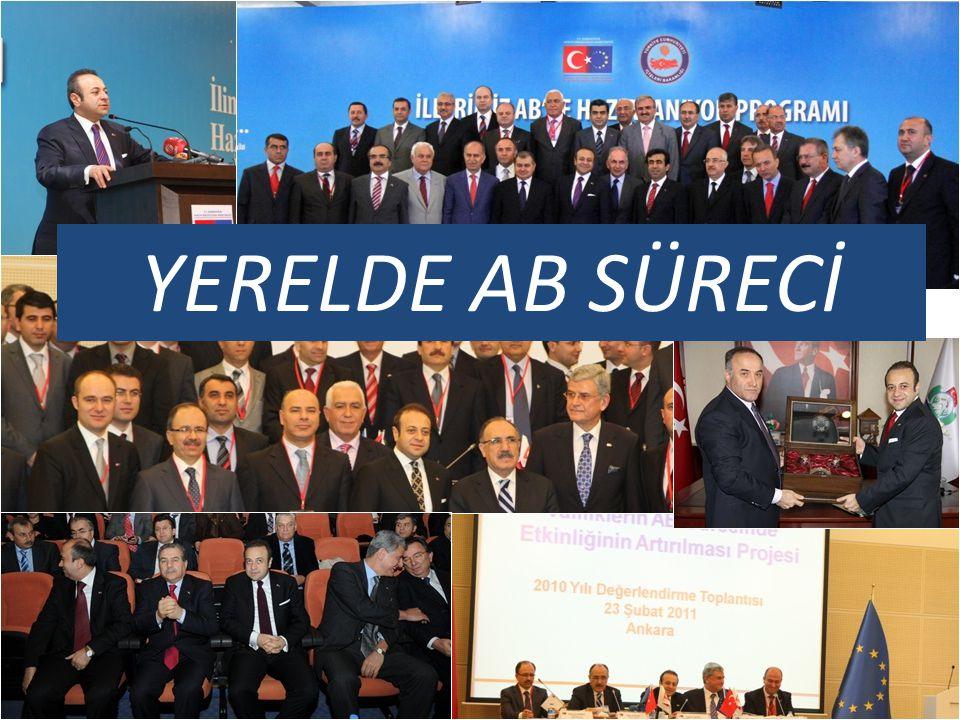 BAKANLIĞIMIZ TARAFINDAN YERELDE YÜRÜTÜLEN PROJELER AB KATILIM SÜRECİNE YERELİ ORTAK EDEBİLMEK Valiliklerin AB Sürecinde Etkinliğinin Artırılması Projesi İllerimiz AB'ye Hazırlanıyor Programı İstanbul AB'ye Hazırlanıyor Ankara AB'ye Hazırlanıyor İl Özel İdareleri AB'ye Hazırlanıyor Belediyeler AB'ye Hazırlanıyor MATRA Fonu ve Yereldeki Basın ve Halkla İlişkiler Sorumlularına Eğitim Genç İşadamları AB Yolunda Projesi Türk Yerel Medyası AB Yolunda Projesi AB Yolunda Genç İletişimciler Yarışması Avrupa Birliği Müktesebatının Yerelde Uygulanması Projesi Avukatlar için Yargı ve Temel Haklar Projesi