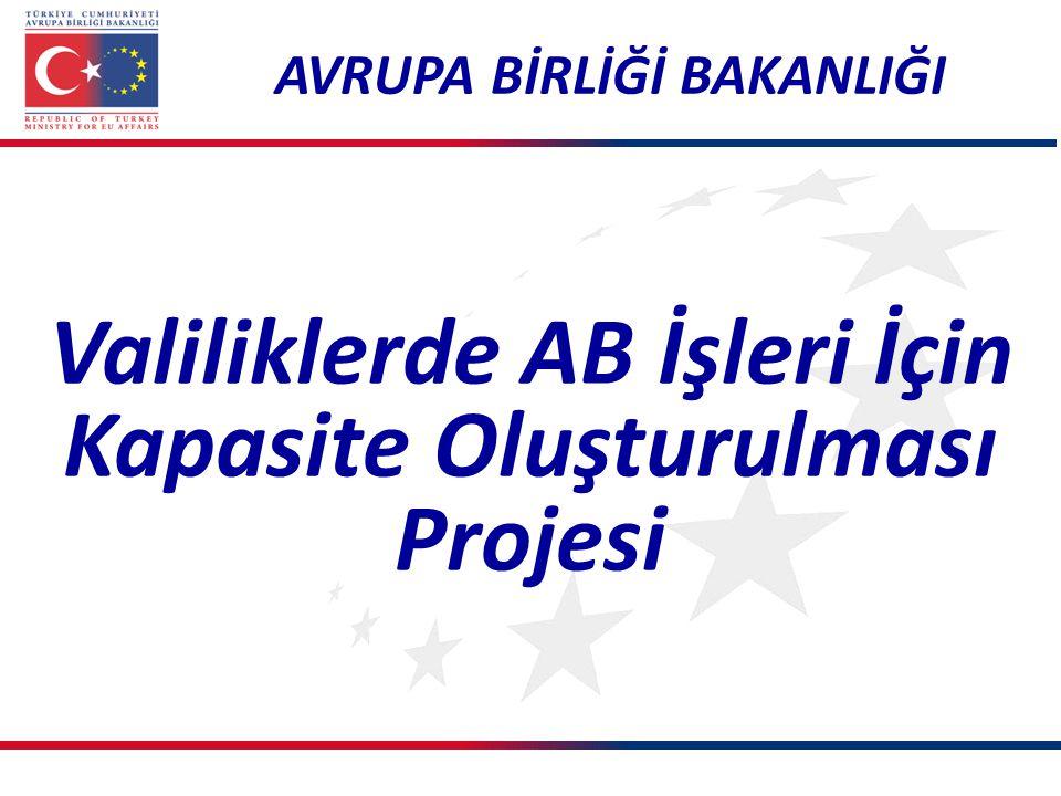 Valiliklerde AB İşleri İçin Kapasite Oluşturulması Projesi AVRUPA BİRLİĞİ BAKANLIĞI