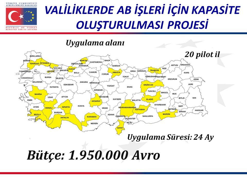 PROJENİN GELİŞTİRİLMESİ VE UYGULAMA SÜRECİ İl AB Daimi Temas Noktası Vali Yardımcıları ile valilik AB birimleri temsilcilerinin katılımıyla Ankara'da gerçekleştirilen İstişare Toplantısı (20 Haziran 2012) Valiliklerle İşbirliği Protokolü nün imzalanması (Ağustos 2012) Resmi uygulama sürecinin başlangıcı (12 Aralık 2012) AB UDYK'larda Bakanlık personelimiz tarafından proje tanıtım sunumları (Ocak 2013)