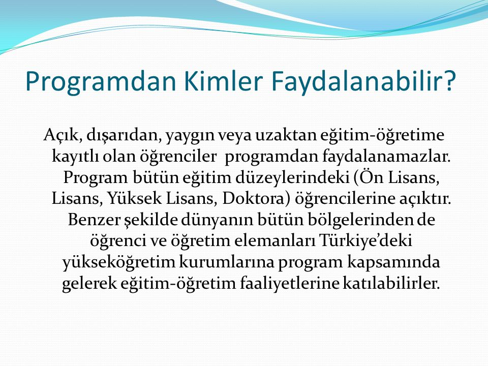 Mevlana Değişim Programı Protokolü Tanınma Talep Dilekçesi: Protokol yapılması planlanan yurt dışı yükseköğretim kurumunun denklik durumunun kontrolü için Türkiye'deki üniversitenin Mevlana Değişim Programı Kurum Koordinatörü tarafından imzalı dilekçenin YÖK'e iletilmesi Tanınma Talep Dilekçesi Sonucu: Değişim protokolü imzalanması planlanan yurt dışındaki yükseköğretim kurumlarının denklik durumlarının kontrolü ve sonucun başvuru yapan yükseköğretim kurumuna iletilmesi