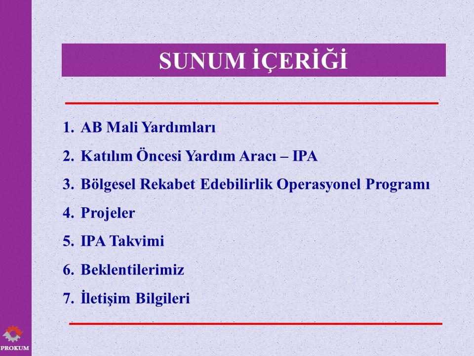 PROKUM GLOBAL COĞRAFYASI BÖLGESEL REKABET EDEBİLİRLİK OPERASYONEL PROGRAMI Kişi başına düşen milli geliri Türkiye ortalamasının % 75'inin üstünde kalan Düzey II bölgeleri 15 Büyüme Merkezi Kişi başına düşen milli geliri Türkiye ortalamasının % 75'inin altında kalan Düzey II bölgeleri