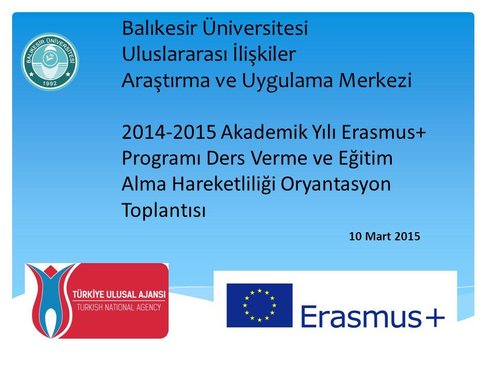  2007-2014 yılları arasında yürütülen Eğitim Alma ve Ders Verme Hareketliliği, Hayat boyu Öğrenme/Erasmus Programı kapsamında yer almaktaydı.