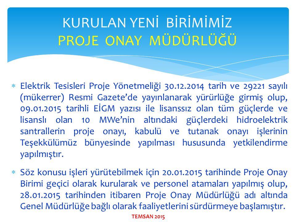  Elektrik Tesisleri Proje Yönetmeliği 30.12.2014 tarih ve 29221 sayılı (mükerrer) Resmi Gazete'de yayınlanarak yürürlüğe girmiş olup, 09.01.2015 tari
