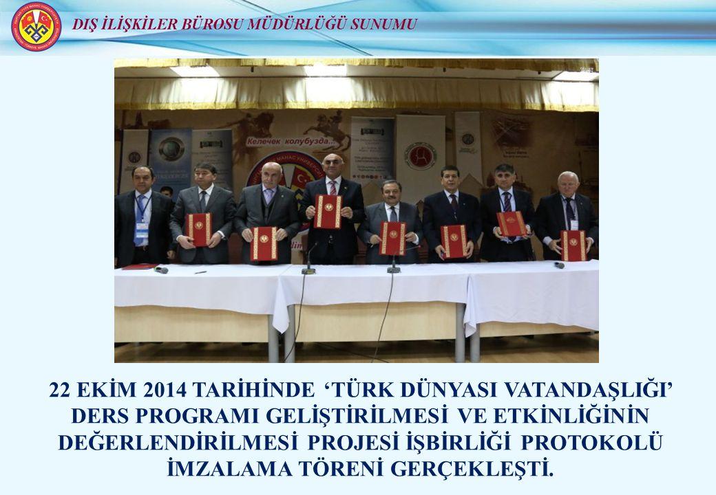 24 EKİM 2014 TARİHİNDE V.A.SUHOMLİNOV – NİKOLAYEV A.